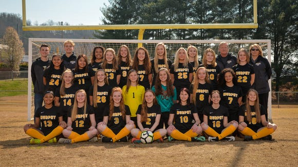 The Murphy girls' soccer team secured its first-ever Smoky Mountain Conference title on Monday.