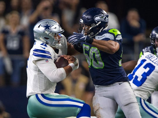 K.J. Wright NFL: NFC Wild Card-Seattle Seahawks at Dallas Cowboys