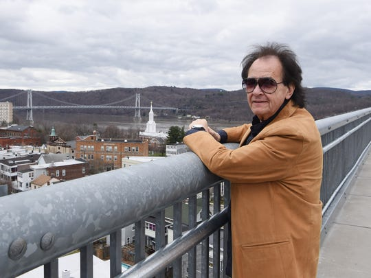 John Regan of the Village of Wappingers Falls stands on the Walkway Over the Hudson State Historic Park in the City of Poughkeepsie.