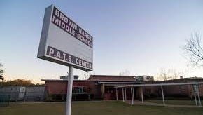 Brown-Barge Middle School was evacuated Monday morning due to a gas leak discovered in the cafeteria.