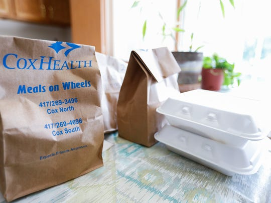 A Meals on Wheels delivery sits on the table of a house on Tuesday, July 3, 2018.