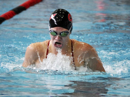 California University of Pennsylvania sophomore Jade Arganbright was named PSAC Swimmer of the Year.