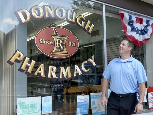 Jeff Temple, new store manager at Donough Pharmacy at Sixth and Cumberland streets in Lebanon, plans to extend the pharmacy's marketing reach as a member of the Premier Pharmacy Network but will maintain the hometown feel and operation for which Donough is known.