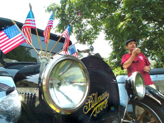 Jeff Beard wipes his face while talking about his 1915 Pullman, which was part of a past Red Lion's Roarin' Great Car Show. See cars of all makes and models from 8 a.m. to 2 p.m. July 4.