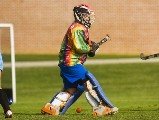 South Western's Hannah Glover was named a GameTimePA first-team all-star field hockey goalkeeper in the fall. At the end of the spring season, Glover will earn her 12th and 13th varsity letters — four from field hockey, four from track and field, three from softball and two from basketball — breaking the school record for most varsity letters by a female athlete.