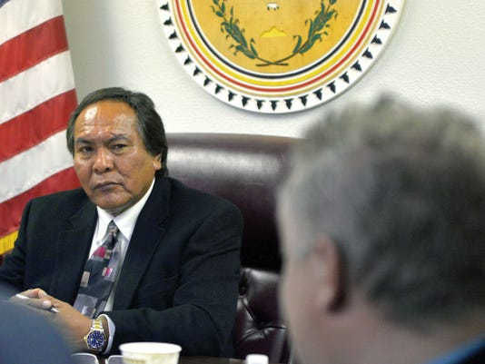 Office of Hearings and Appeals officer Richie Nez listens during a proceeding on Oct. 9 at the office of Hearings and Appeals in Window Rock, Ariz. Nez acted within his authority in presiding over a case involving presidential candidate Russell Begaye, the Navajo Nation Supreme Court has ruled.