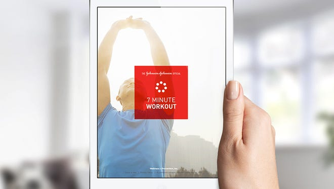 Johnson & Johnson's 7 Minute Workout app is free, and available for Apple and Android devices.