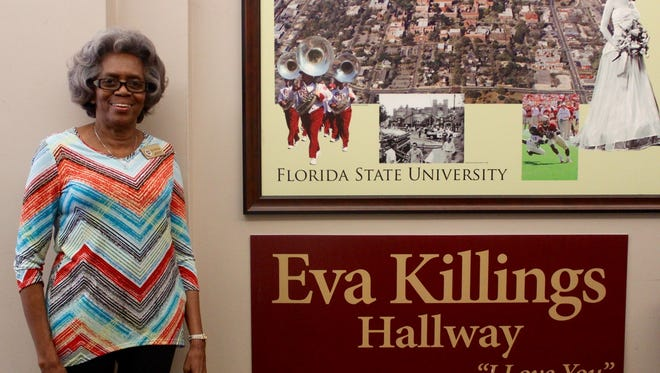 Eva Killings has worked on FSU's campus for 45 years and was honored with a hallway in her name.
