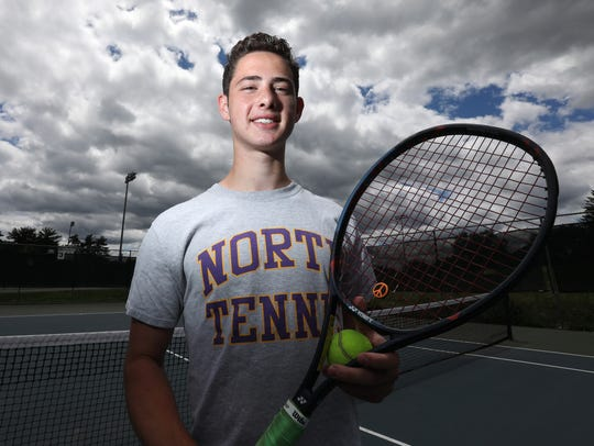 Clarkstown North's Ethan Jacobs, Rockland tennis player