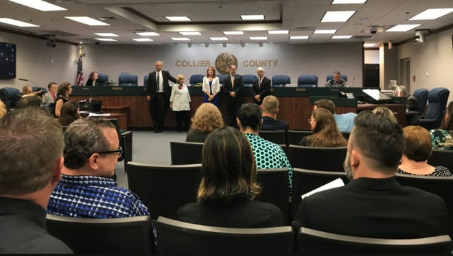 The Collier County Commission meets on Tuesday, Oct. 10, 2017.