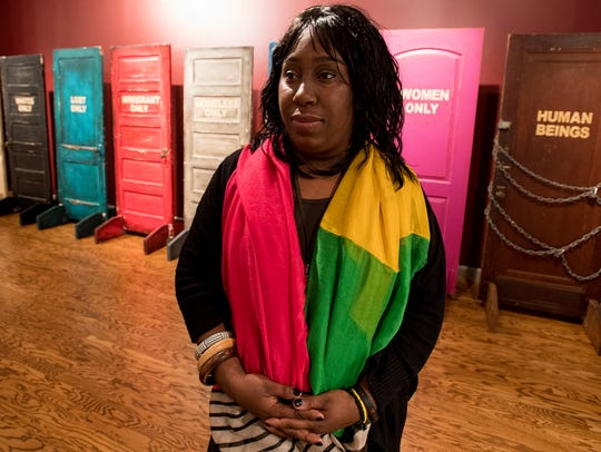 Takeisha Jefferson, an intern at the Rosa Parks Museum,