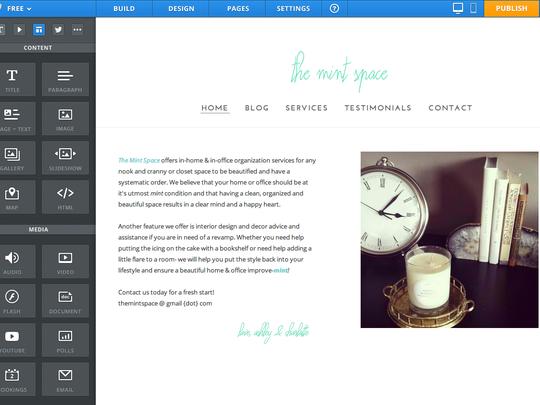 Weebly Site Creator Editor