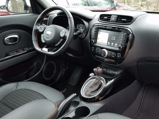 The Kia Soul Turbo shows off a mature interior that