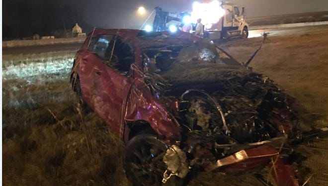 Single-car crash on Interstate 65 leaves driver in critical condition on Indianapolis' south side.