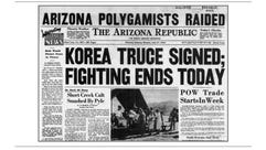 A copy of the front page of The Arizona Republic on