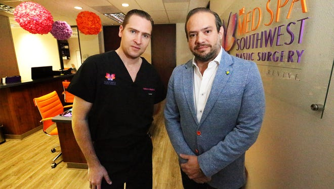 Doctors Humberto Palladino, left, and Frank Agullo of Southwest Plastic Surgery will embark on a humanitarian mission trip to Puebla, Mexico.