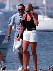 Princess Diana and Dodi Fayed on vacation in the French