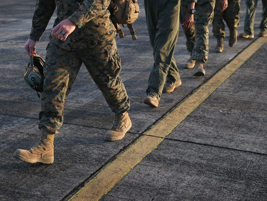 U.S. Marines arrive as part of Operation United Assistance