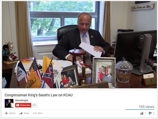 U.S. Rep. Steve King, R-Iowa, is interviewed by Sioux