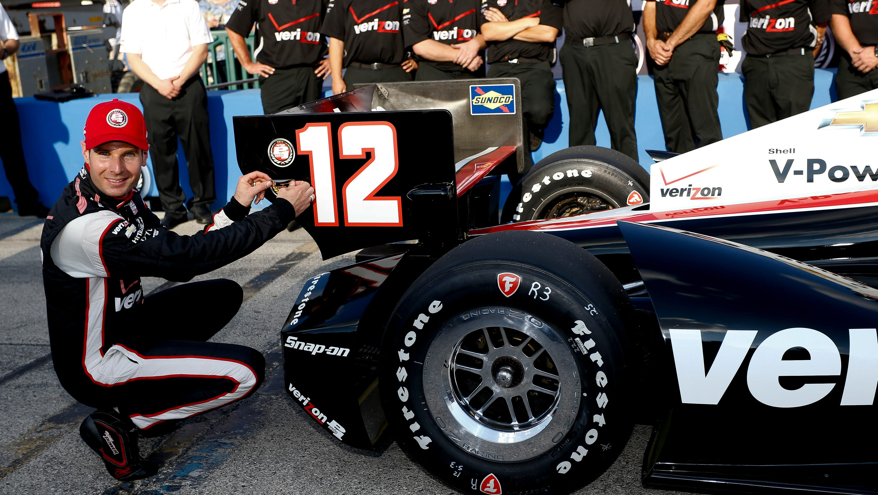 Indycar points leader will power wins from the pole at for Motor city pawn shop on east 8 mile