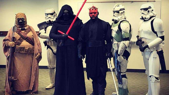 Members of the Wisconsin Garrison were at the Muskego Public Library's intergalactic tea party last year and will be back again June 30.