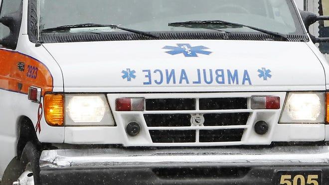 An ambulance prepares to make a run.