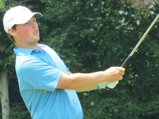 Jeremy Wall is one shot off the lead and tied for third following the second round of the 117th New Jersey Amateur golf championship at Echo Lake Country Club in Westfield on Wednesday, July 11.