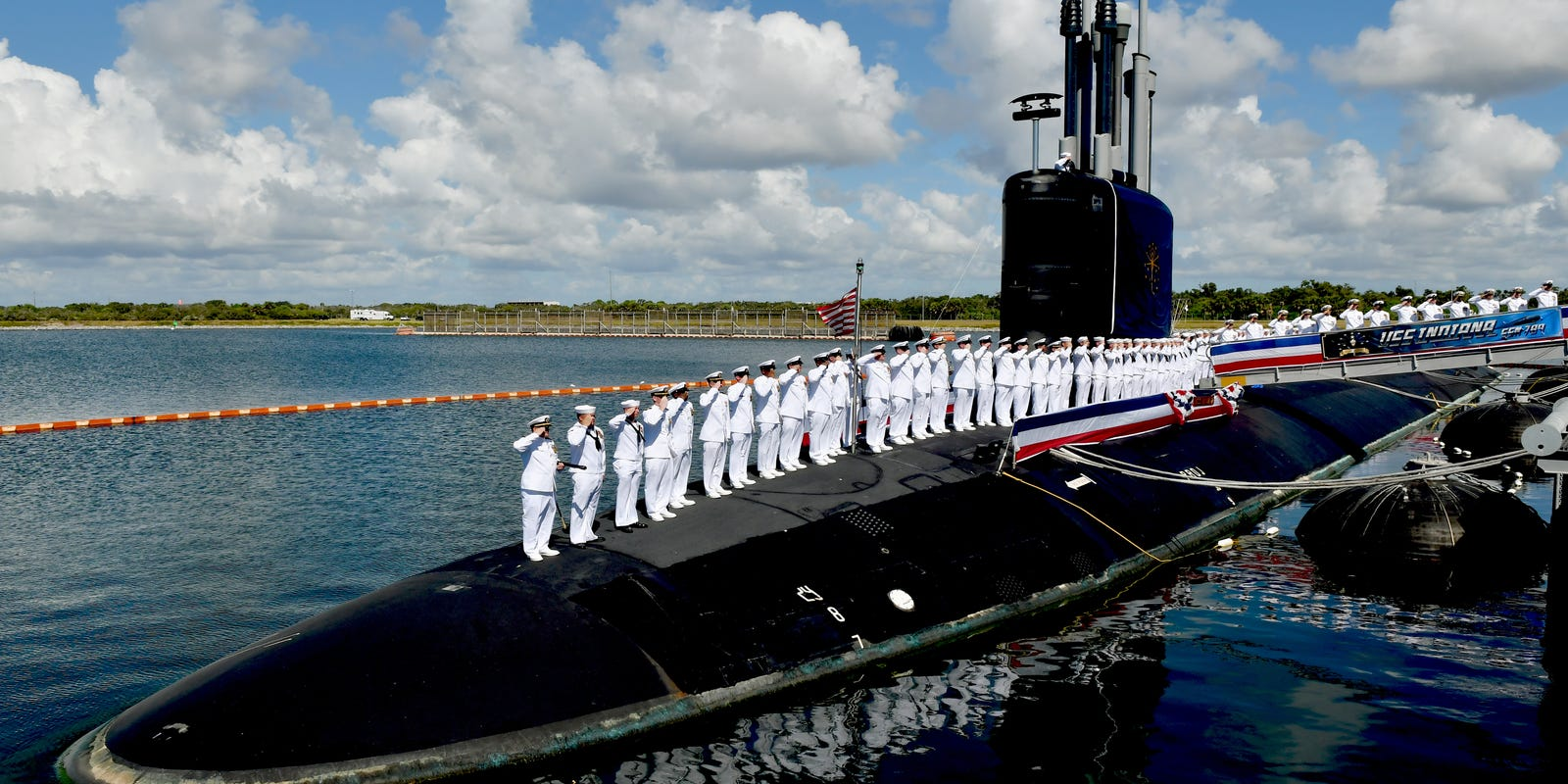 3b879d109 USS Indiana submarine commissioned during Navy ceremony at Port Canaveral