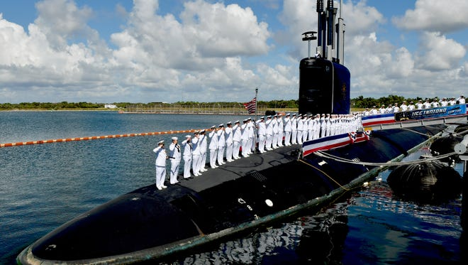 The USS Indiana (SSN 789), the newest Virginia-class attack submarine which is the most modern and sophisticated in the world, was commissioned on Saturday, Sept. 29 at the Navy port at Cape Canaveral Air Force Station. Over 5,000 people attended.