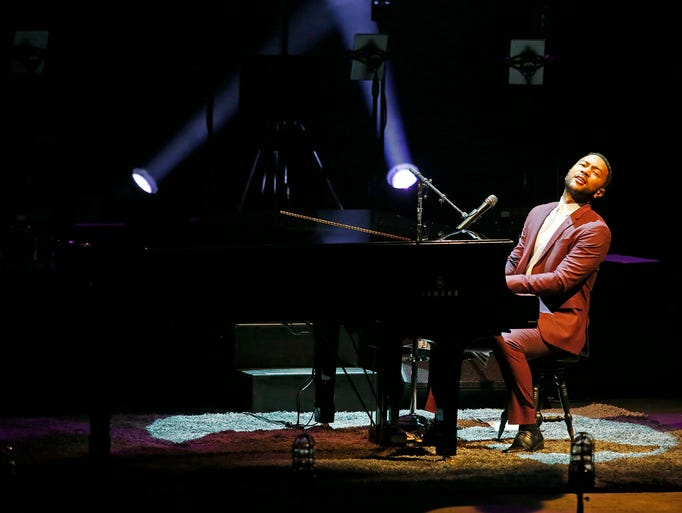 """John Legend  performs during his  """"The All of Me Tour"""""""