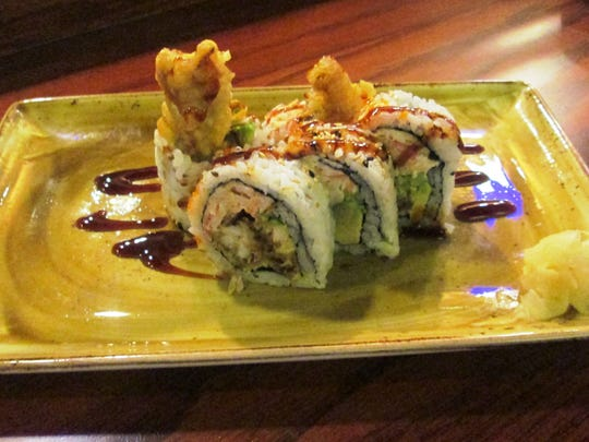 A spider roll from Tokyo Sushi & Steakhouse in Manitowoc.