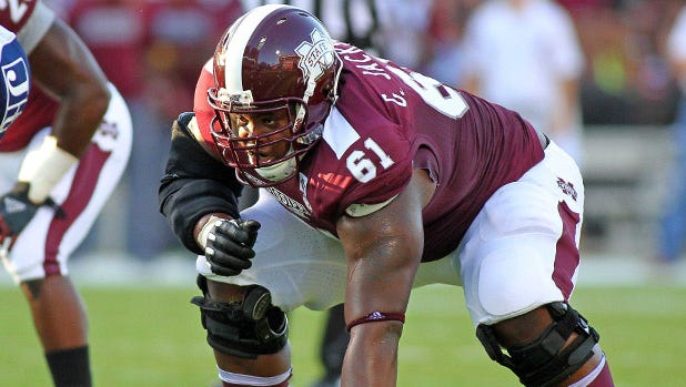 Former Mississippi State lineman Gabe Jackson is slotted to go in the second round of this year's NFL draft.