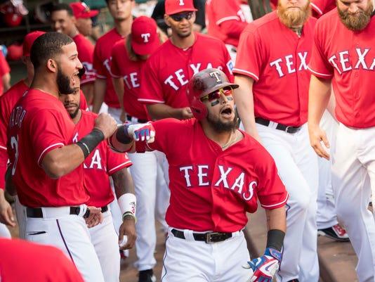 USP MLB: CLEVELAND INDIANS AT TEXAS RANGERS S BBA TEX CLE USA TX