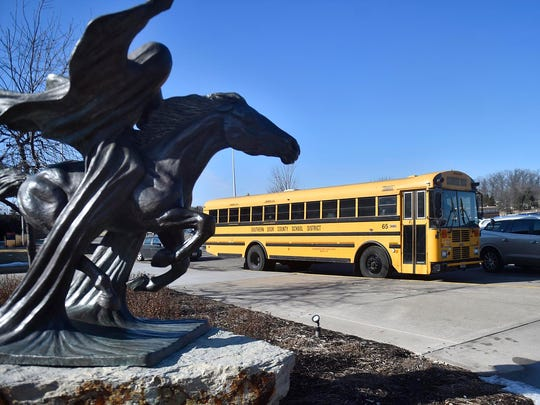 A galloping ghost statue in Kaukauna celebrates one of Wisconsin's quirkiest school mascots.