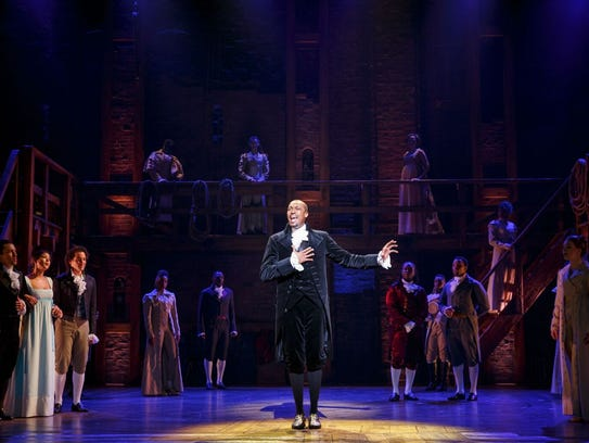 """The Broadway musical """"Hamilton"""" has won 11 Tony Awards. Shows will take place in East Lansing and Detroit next year."""