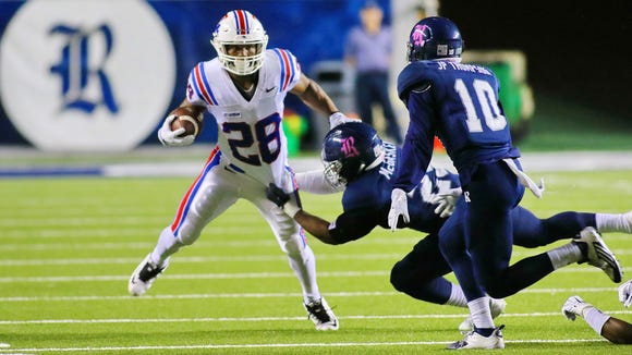 Louisiana Tech running back Kenneth Dixon added two more touchdowns to his career scoring total Friday night at Rice.