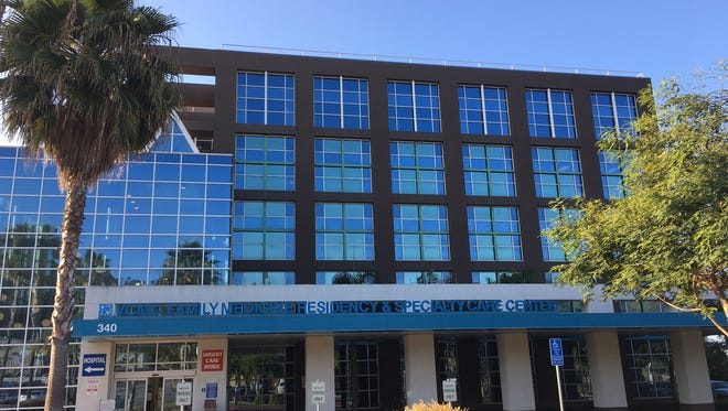 A group of neighbors sued the county of Ventura over the height of this clinic on the Ventura Medical Center campus and won. On Tuesday, the Ventura County Board of Supervisors will consider mitigation measures.