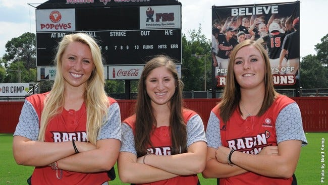 Louisiana Ragin' Cajuns head softball coach Michael Lotief announced Monday that transfers Kirsten Schwirtlich, Katie Repole and Taylor Terrio will join the program for the 2015 season.