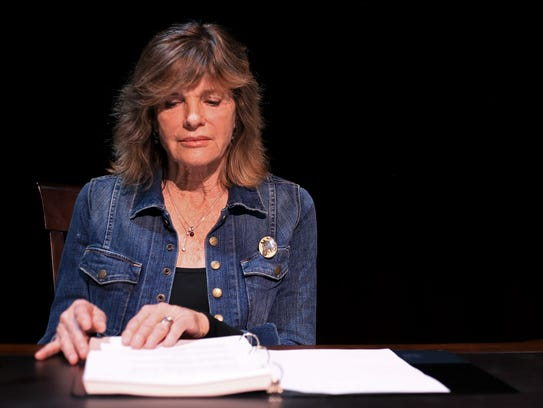 Katharine Ross prepares to play Melissa in The Stage