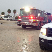Several people were struck by lightning in the parking lot at Raymond James Stadium following the Bucs-Packers game.