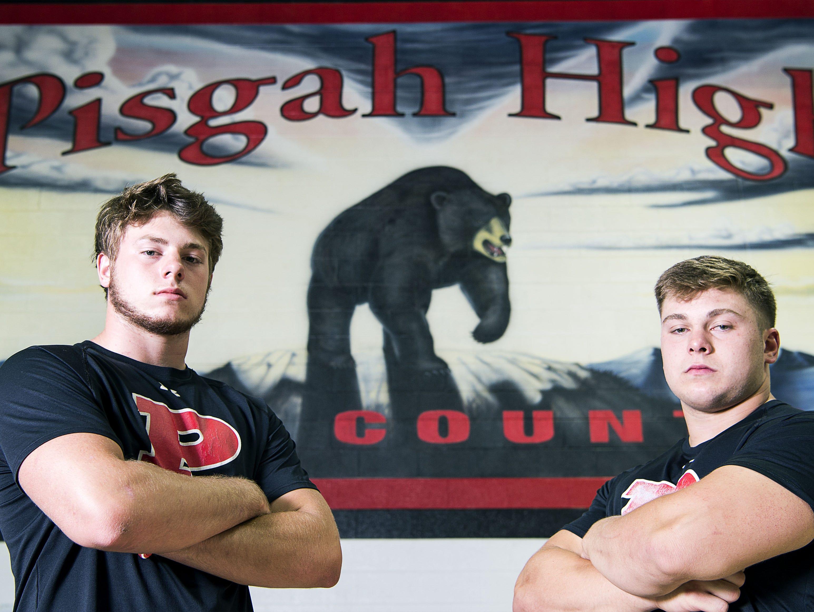 Pisgah's Trey Morgan, left, and Michael Parrott.