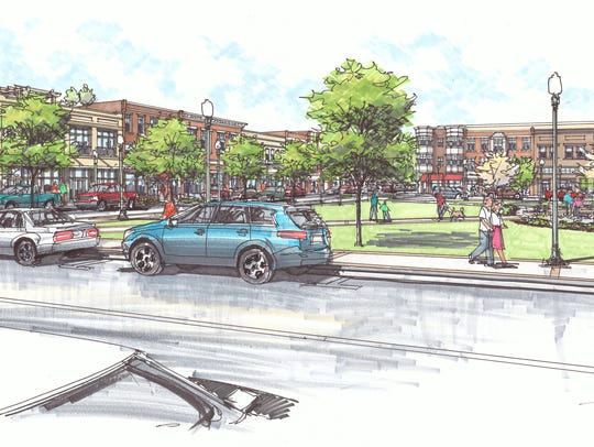 Proposal would feature a mixed-use city center and