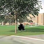 A rendering of the French-American School's proposed campus at the former Ridgeway Country Club in White Plains.