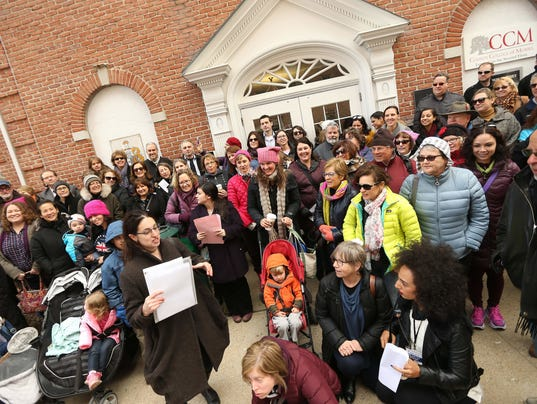 Over 100 members of the grassroots group NJ 11th for Change came to the Morristown office of U.S. Rep. Rodney Frelinghuysen in January