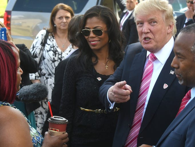 Omarosa, Donald Trump and Ben Carson visit Ben Carson's