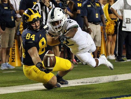 Oct 7, 2017; Ann Arbor, MI, USA; Michigan State Spartans