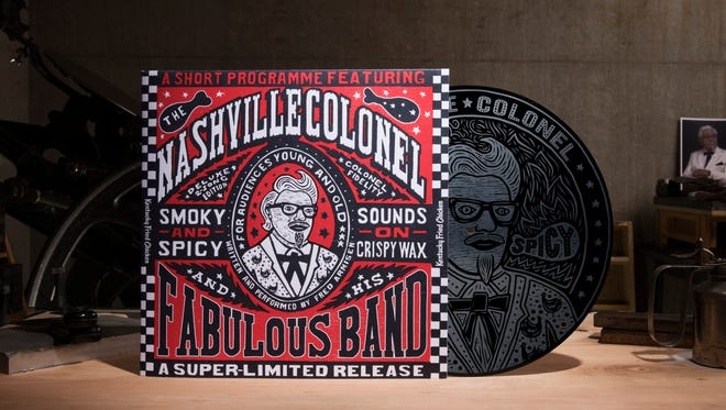 Album cover of the KFC hot chicken record written and performed by Fred Armisen. the Nashville.