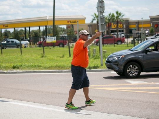 An employee at Love's in North Fort Myers off Interstate