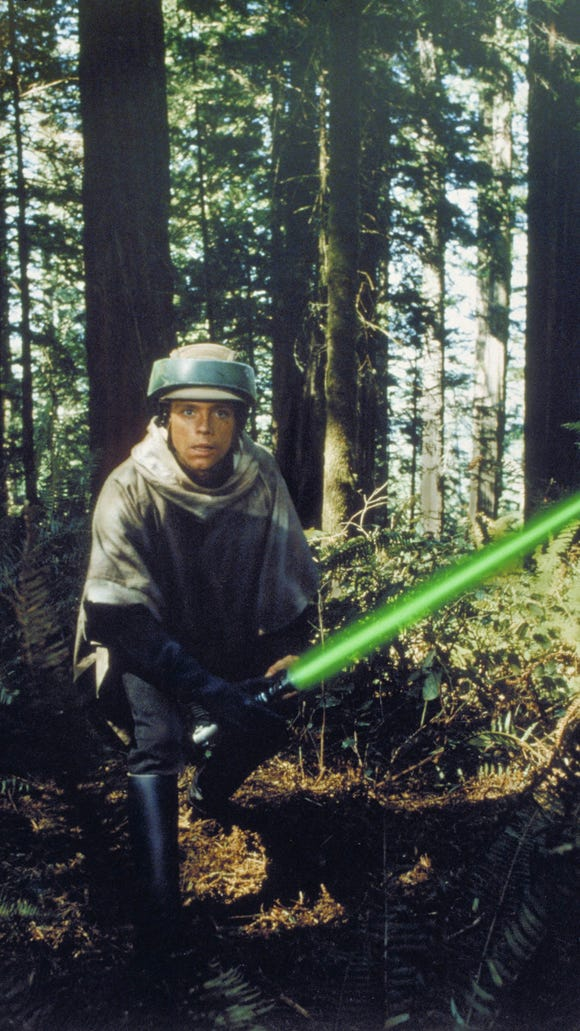 Skywalker stylin' on the moon of Endor.