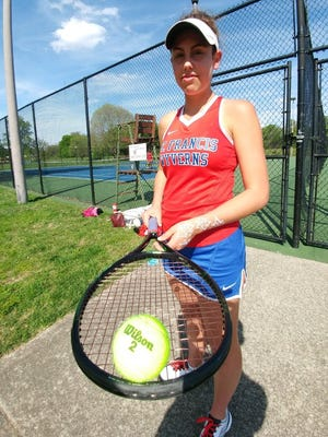 St. Francis tennis player Eva Borders reached the state semifinals last year.